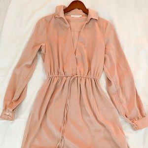 Blush silk dress